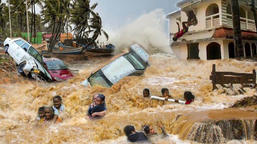 India, situazioni di emergenza meteo e idraulica per un forte ciclone