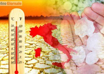meteo estate 2021 molto calda con temporali e grandine
