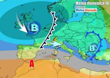 Evoluzione per domenica, con nuovo fronte in rotta verso il Nord Italia