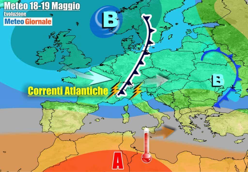 METEO la cronaca 7 Giorni. Italia tra perturbazioni e aria d'Africa