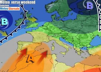 Decisa rimonta anticiclonica sull'Italia nel weekend, ma a carattere temporaneo
