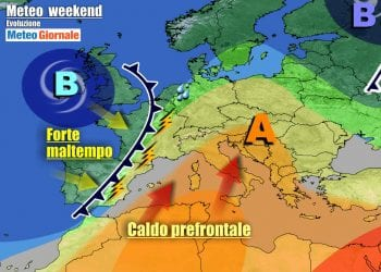 Evoluzione meteo nel corso del weekend