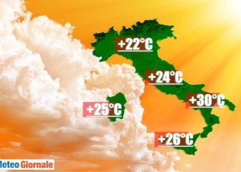 temperature massime di oggi