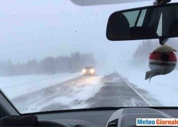 tempeste di neve in Finlandia