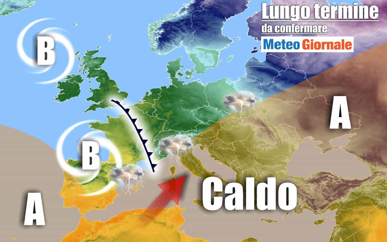 METEO Italia al 27 giugno: forte impennata delle TEMPERATURE