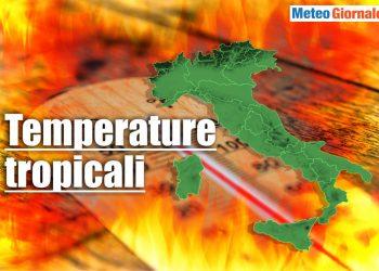 Meteo con temperature tropicali.