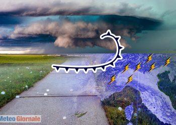 Verso meteo temporalesco al Nord Italia.