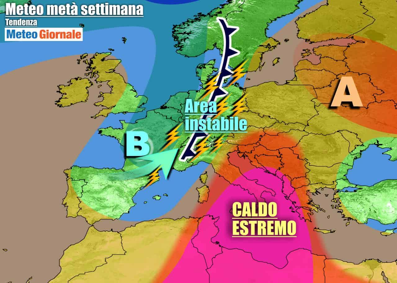 METEO Italia. FORNACE AFRICANA, con punte di oltre 40 gradi