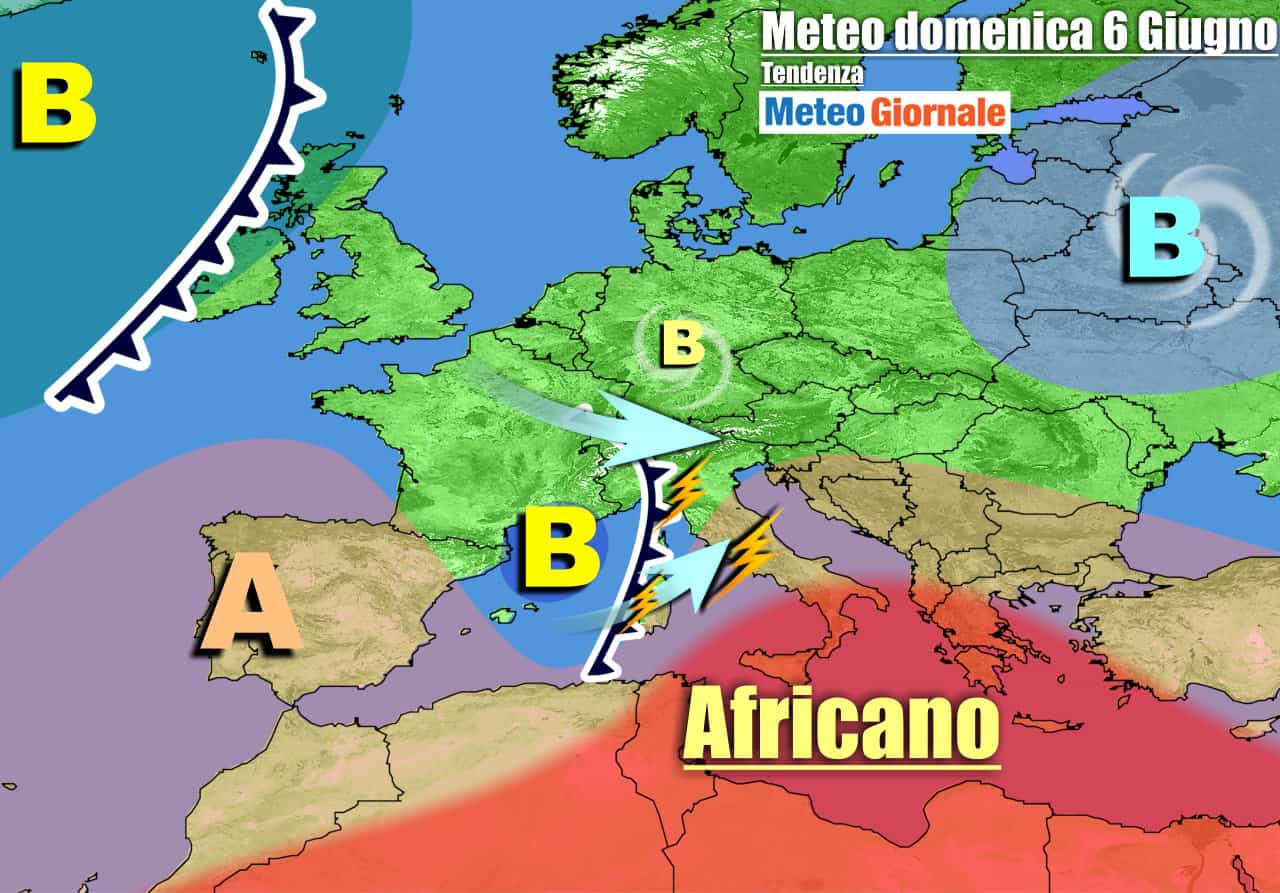 In Italia cede l'anticiclone con arrivo di temporali