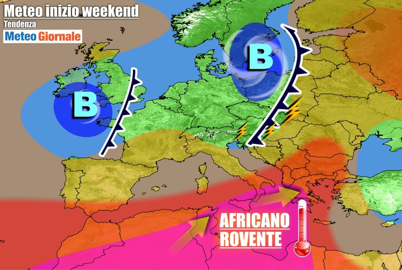 METEO: nel Weekend STOP CALDO asfissiante. Poi TEMPERATURE africane