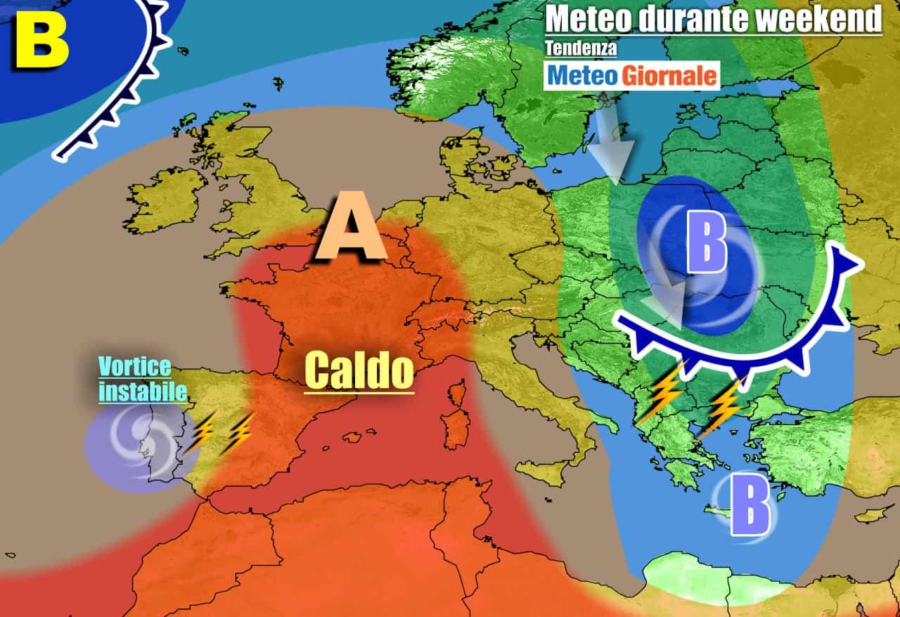 Il caldo sale alla ribalta sull'Italia e parte d'Europa