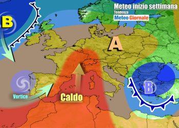 Anticiclone e caldo sull'Italia