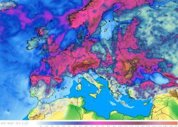 Piogge previsione in arco temporale di 15 giorni.