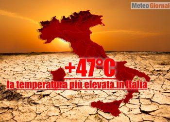 previsione meteo di ondata di calore oltre 45 gradi