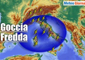goccia fredda con temporali su italia 350x250 - Goccia fredda piomba su ITALIA con acuto maltempo temporalesco