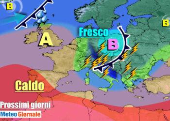 meteogiornale 7 g 15 350x250 - Crisi meteo in piena estate: incredibile freddo artico nel cuore di luglio