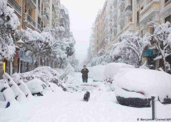 La Capitale spagnola paralizzata dalla neve