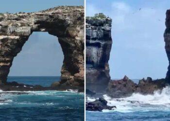 Il prima e il dopo del celebre arco