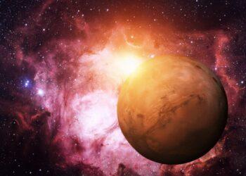 fotocomposizione della veduta di Marte