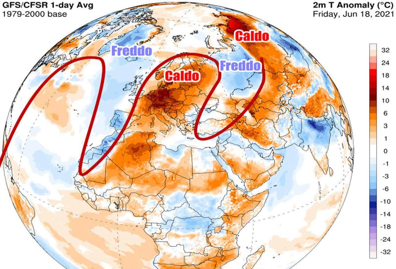 anomalie temperature emisfero - CALDO ESAGERATO con record dagli Usa all'Europa: ecco cosa sta accadendo