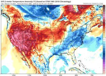 Il caldo estremo negli Stati Uniti non mollerà la presa nei prossimi giorni