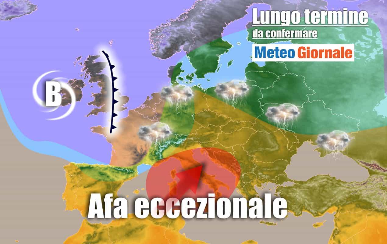 lungo termine 17 - METEO Italia al 4 luglio: CANICOLA esagerata persistente