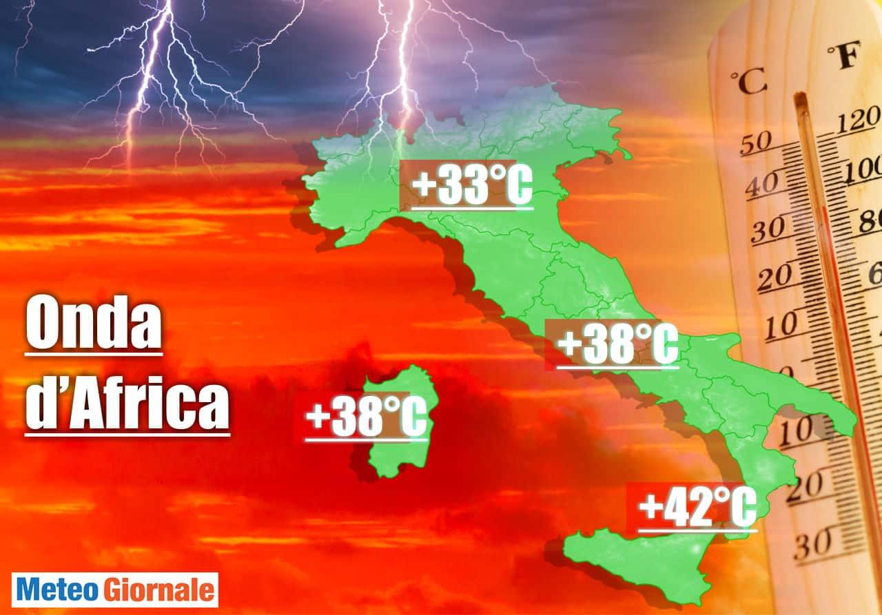 meteo influenzato da aria africana - Il  FLOP delle previsioni meteo sopraffatte dall'ONDA d'Africa. Ma c'è una novità con Temporali