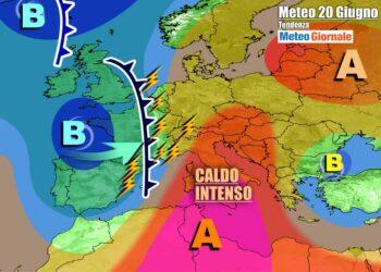 Caldo intenso sull'Italia nel weekend, prima dei temporali