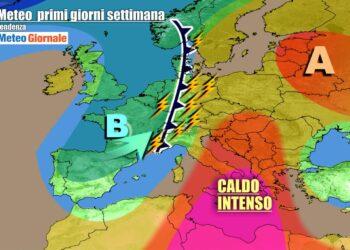 Italia fra caldo africano e temporali