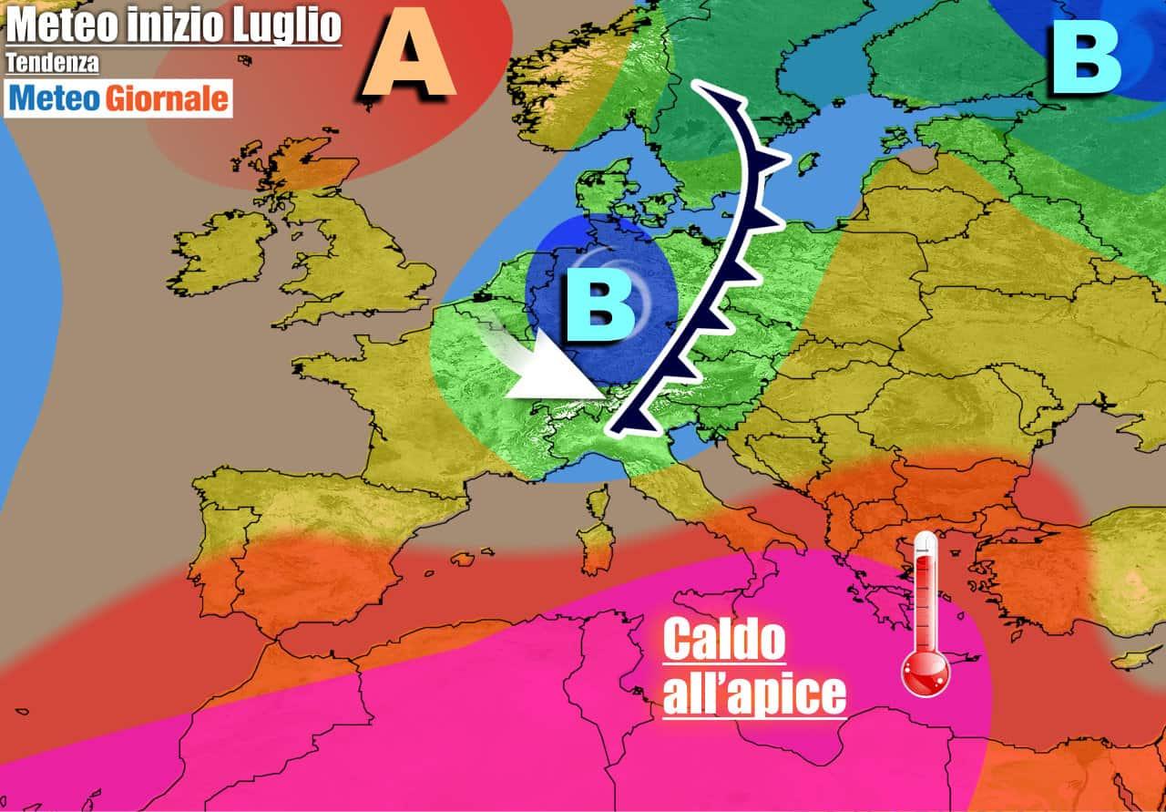 meteogiornale previsioni 7 giorni 25 - METEO ITALIA 7 Giorni. Dal CALDO AFRICANO al REFRIGERIO con TEMPORALI
