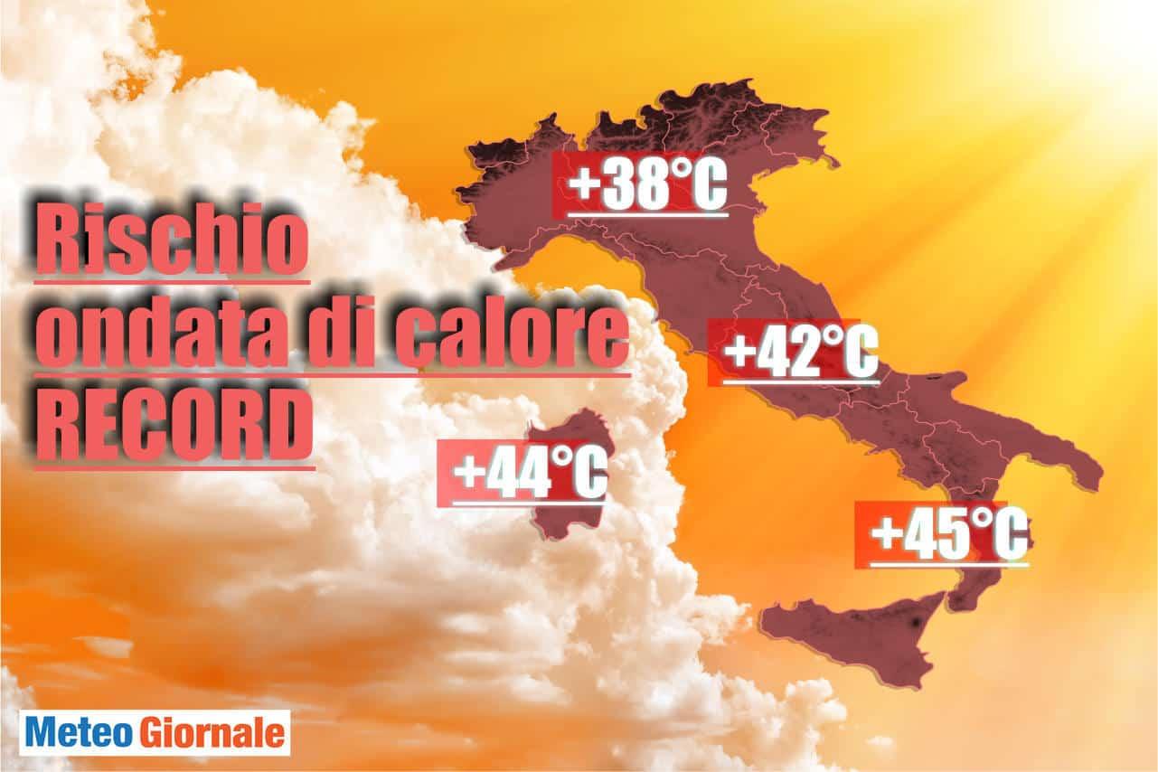 ondata di caldo record - Ancora conferme Centro Meteo Americano: CALDO con picchi di 45°C