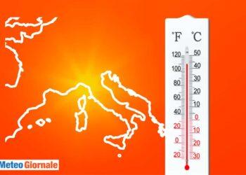 Ondata di calore meteo estremo.