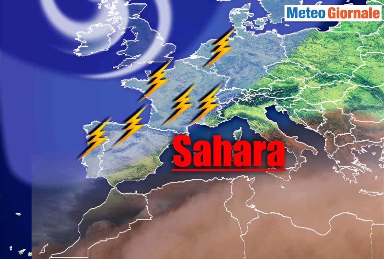tempesta di sabbia - Meteo e la CAPPA D'AFRICA su Italia. Massiccia invasione di sabbia dal Sahara