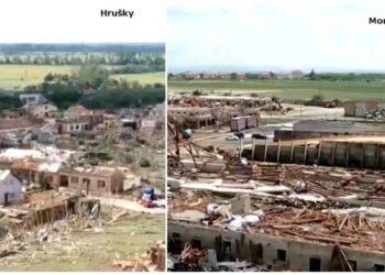 Tornado in Moldavia.