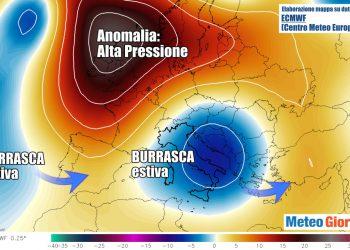 evoluzione centro meteo europeo goccia fredda