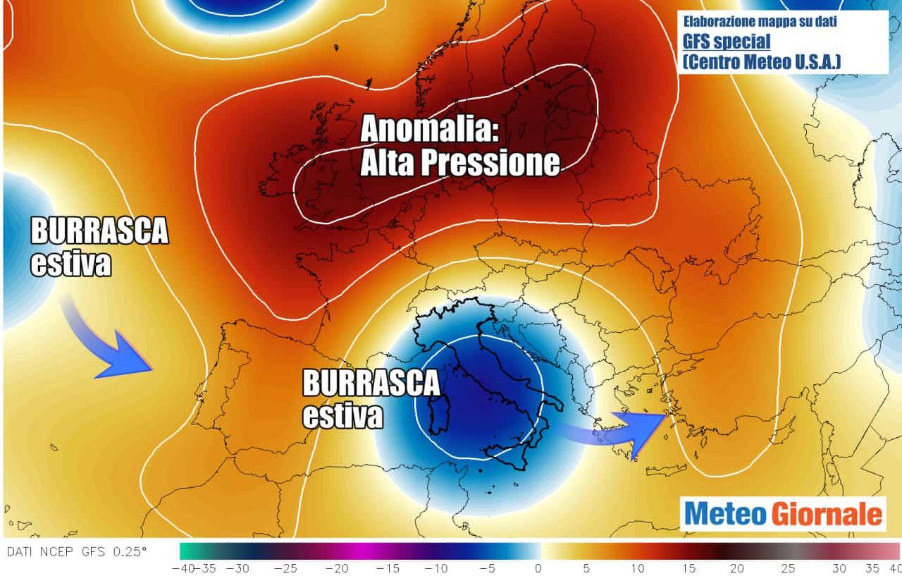 evoluzione goccia aria fredda centro meteo americano - STOP meteo d'Estate: raffica di GOCCE d'Aria Fredda tra BOLLE d'Africa: Temporali e Grandine