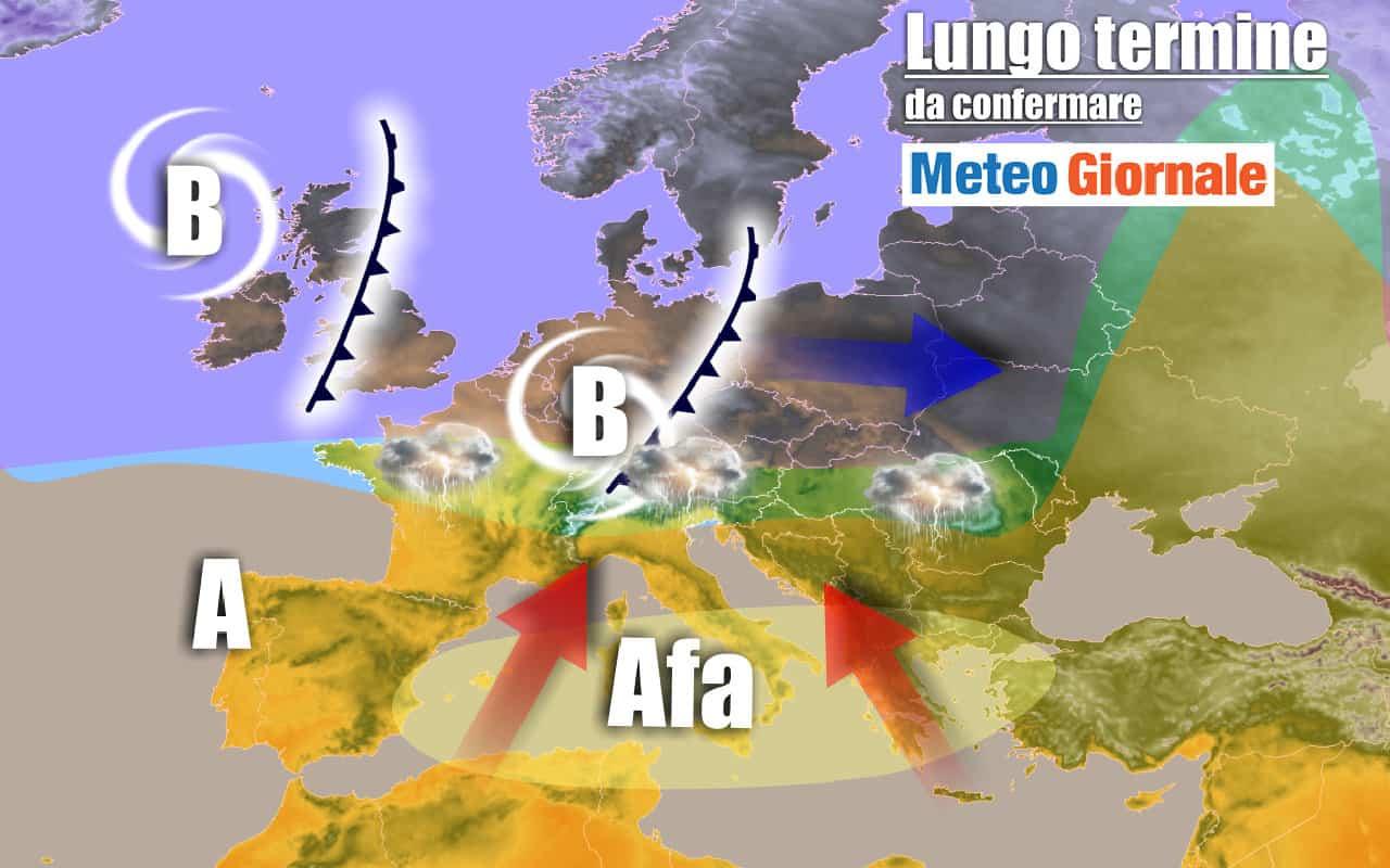 lungo termine 8 - METEO Italia al 30 luglio: l'AFRICA ci riproverà