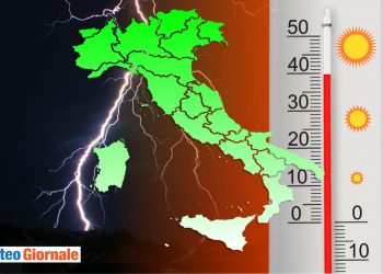 meteo italia caldo e grandine