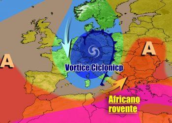 Italia in balia di un vortice ciclonico