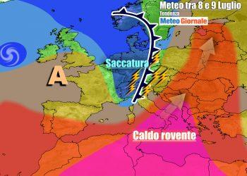 Italia tagliata in due tra caldo africano e temporali