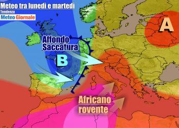 Italia contesa fra caldo e una saccatura nei primi giorni della settimana