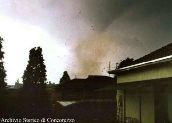 Tornado ad Arcore e paesi vicini vent'anni fa